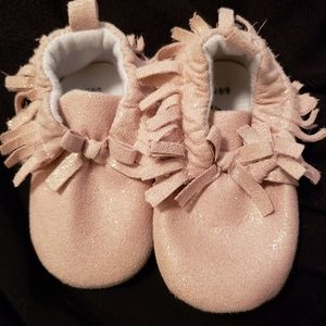 Other - Super cute little girl moccasin shoes. Barely worn